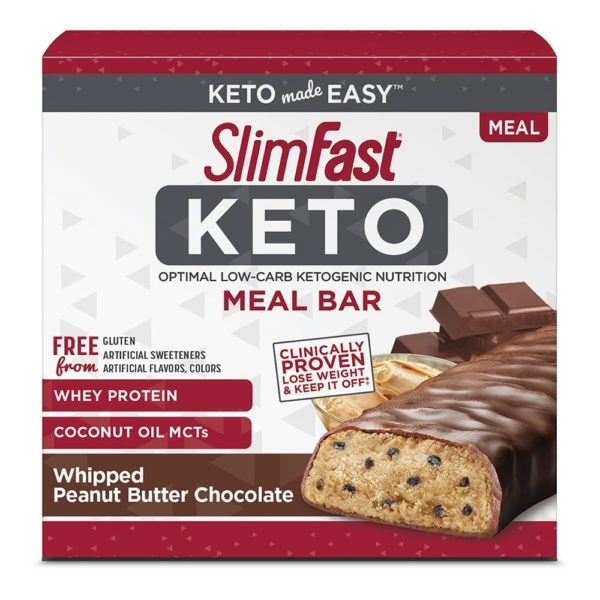 Keto Peanut Butter Chocolate Meal Bar