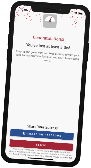 Download the SlimFast Together App for tracking your Keto diet